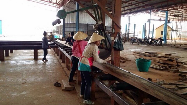 老挝工厂一角